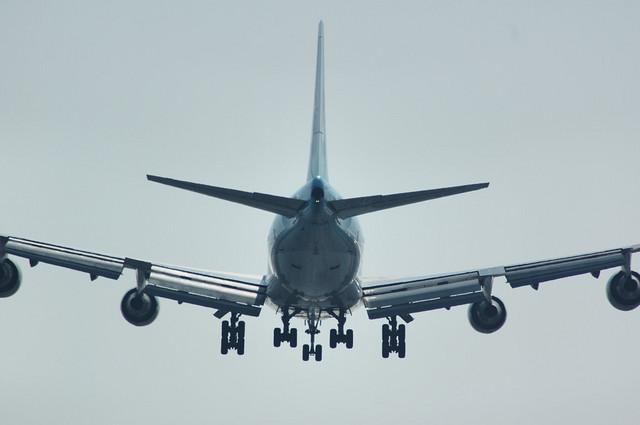 Boeing747-400 後姿