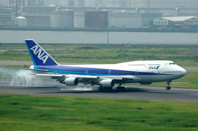 Boeing747-400 着陸