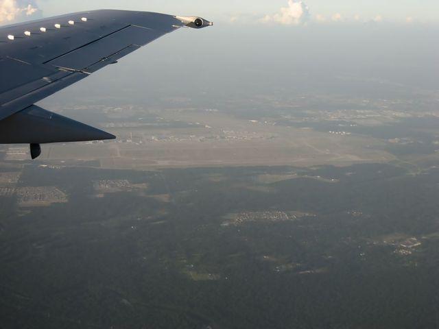 ヒューストン国際空港ダウンウィンドレグ