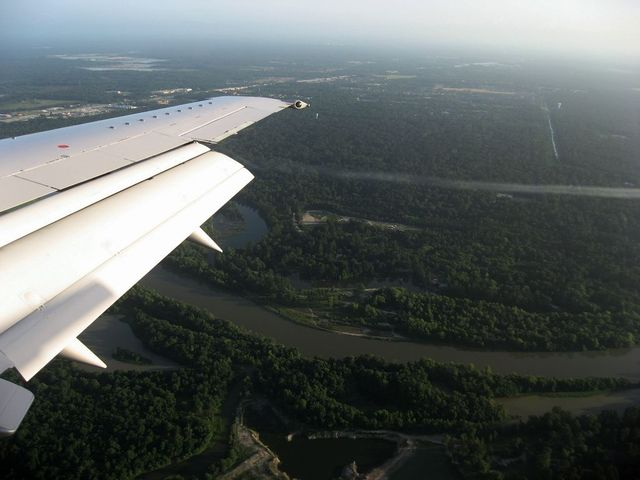 ヒューストン国際空港ファイナルアプローチ