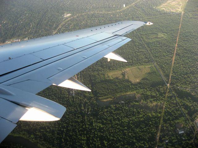 ヒューストン国際空港へのベース・ターン