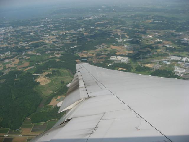 成田空港滑走路16Rへ向けてファイナル・ターン