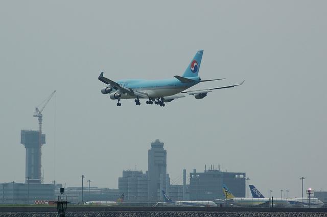 大韓航空 Boeing747-400 着陸