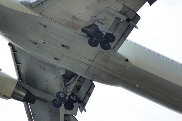 Boeing767の腹