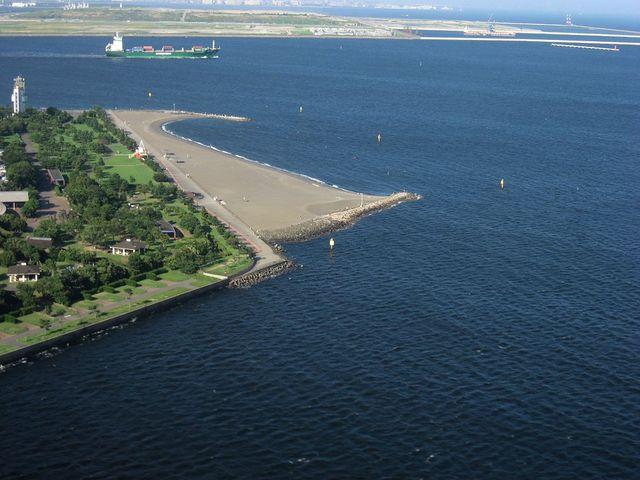 城南島海浜公園人工浜