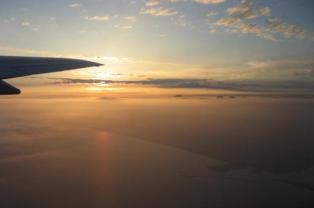 雲の上の夕焼け