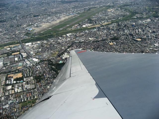 伊丹空港を離陸後、左旋回