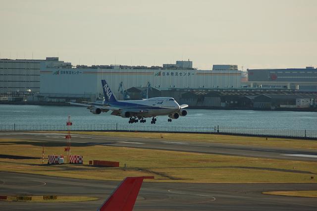 ANA Boeing747-400D Landing