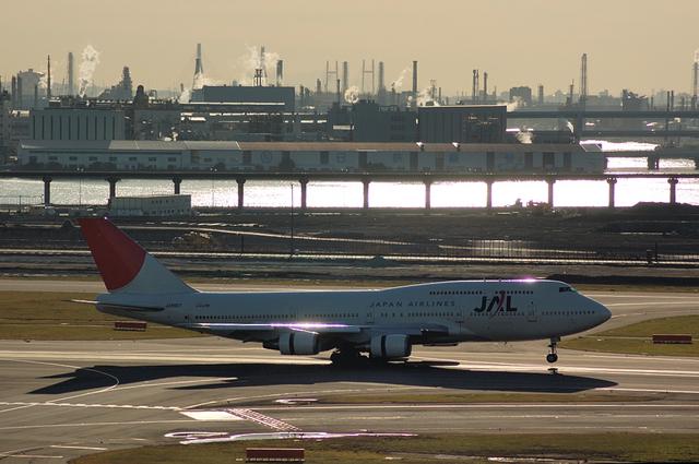 JAL Boeing747-400 Landing