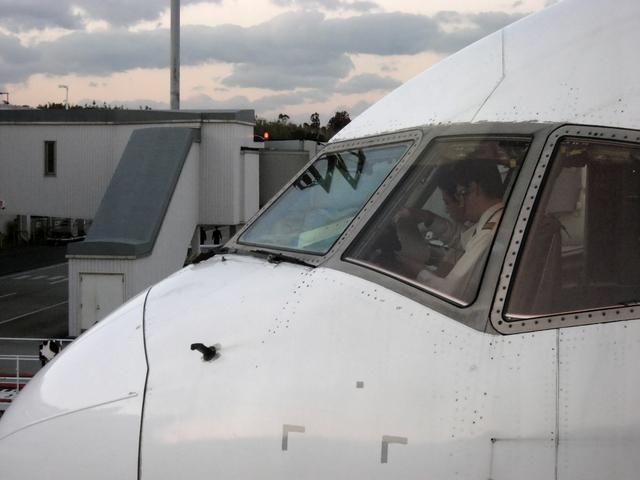 大分空港からの帰りの飛行機