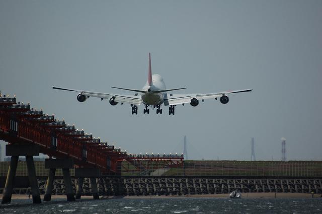日本航空Boeing747-400D 着陸