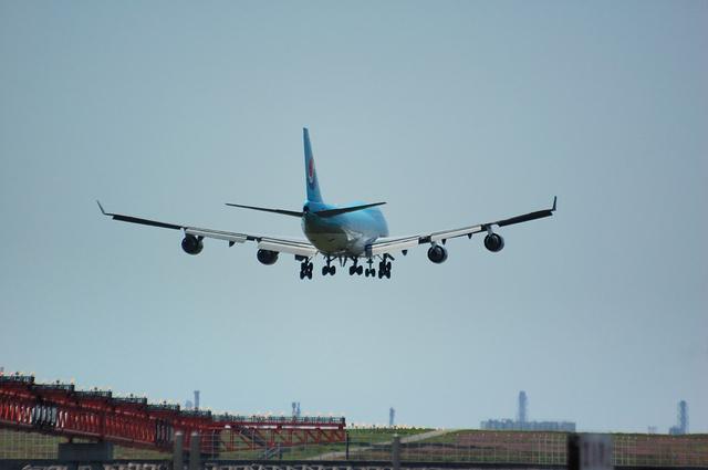 Korean Air Boeing747-400 Landing