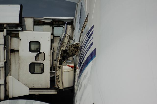 飛行機のドア