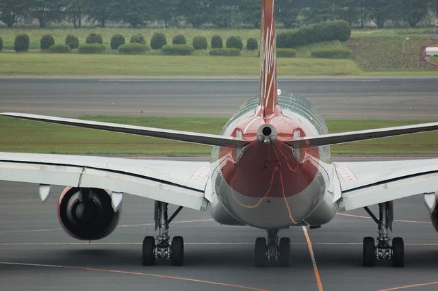 Airbus A340-600の後姿