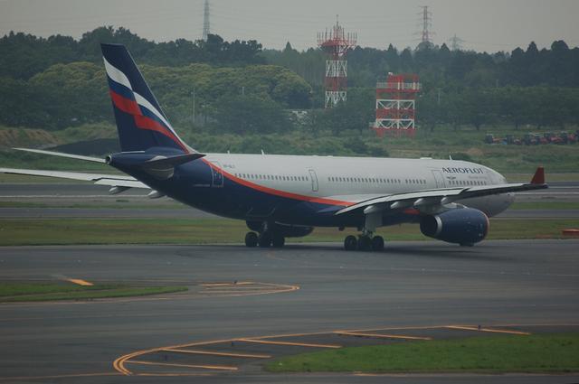 アエロフロート A330 後姿