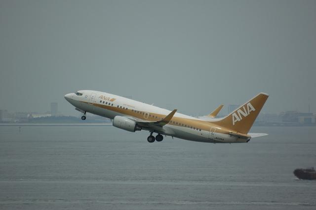 ゴールド・ジェット 離陸上昇