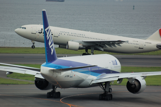 Airbus A300とBoeing777-200