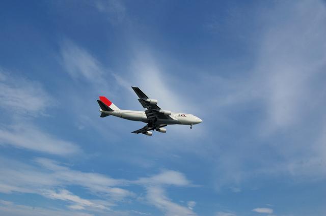 城南島海浜公園から見た飛行機