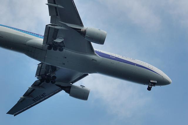 Boeing777-200のお腹