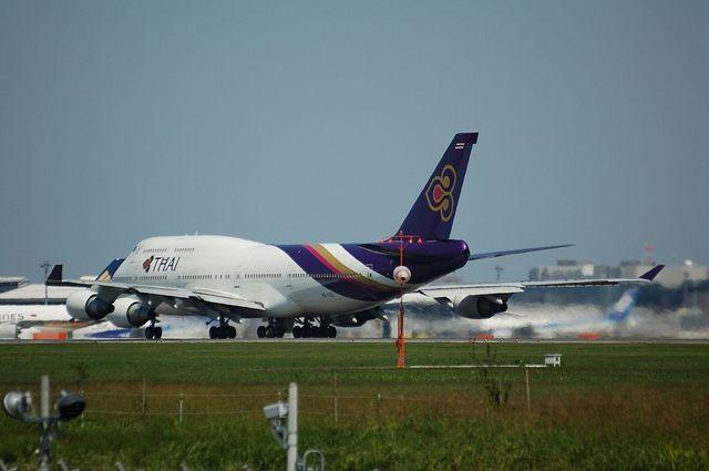 タイ国際航空 Boeing747-400 離陸