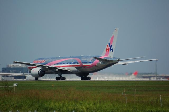アメリカン航空 Boeing777-200ER 離陸