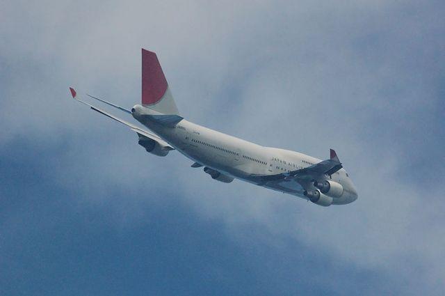 日本航空のBoeing747-400