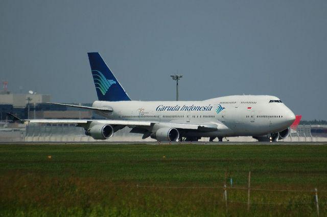 ガルーダインドネシア航空のBoeing747-400