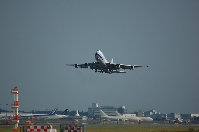 China Airlines Boeing747-400 Take Off