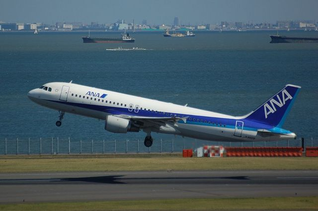 ANA Airbus A320 Take Off