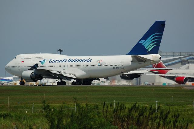 旧塗装のガルーダインドネシア航空