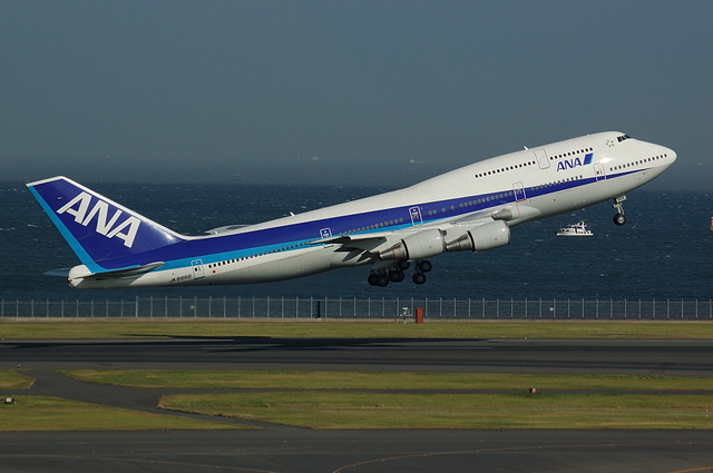 ANA Boeing747-400D Take Off