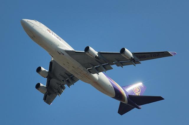 タイ国際航空のBoeing747-400