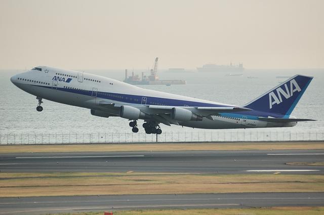離陸するBoeing747