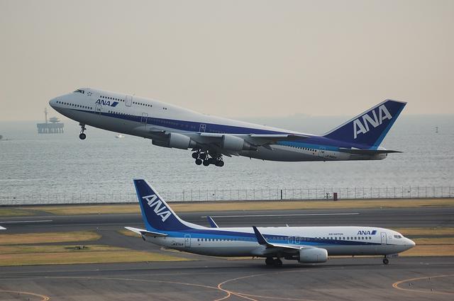 Boeing747-400とBoeing737-800