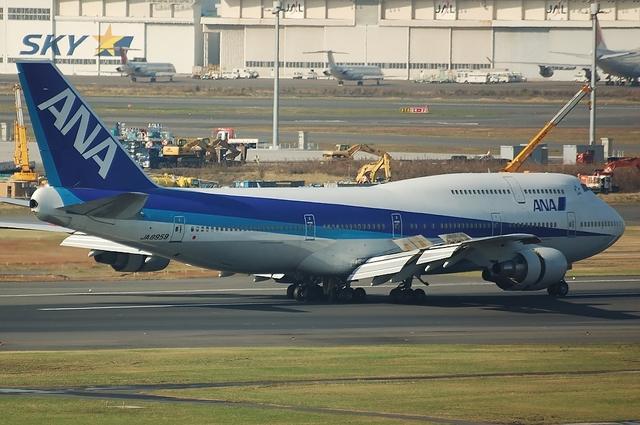 着陸時のBoeing747