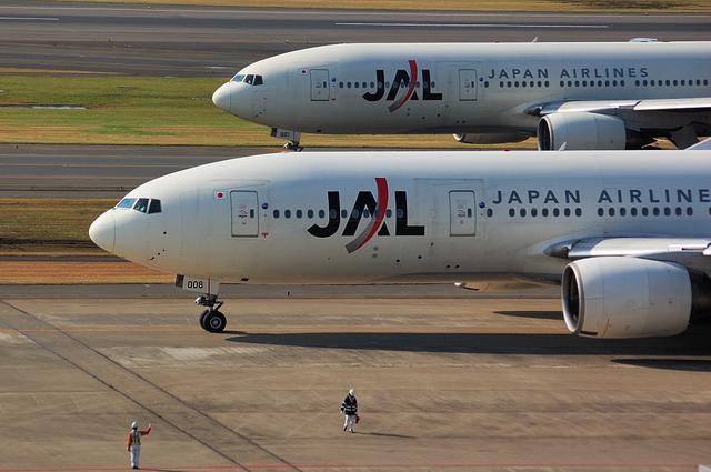 JAL Boeing777のツーショット
