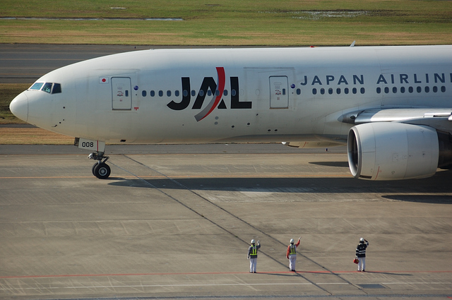 JAL Boeing777のお見送り