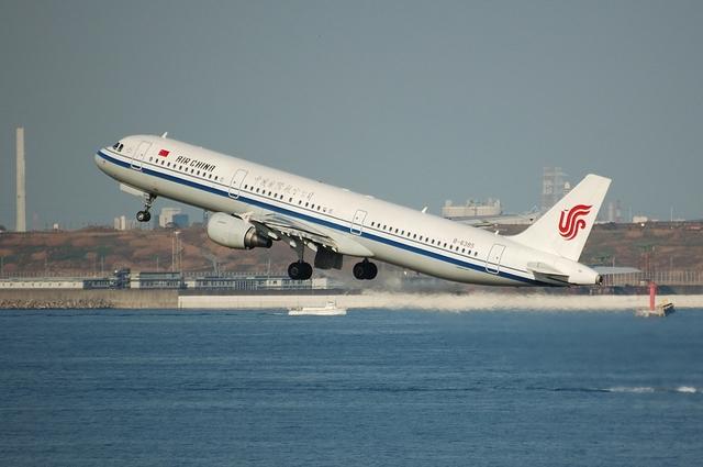 CA182便 北京に向けて離陸