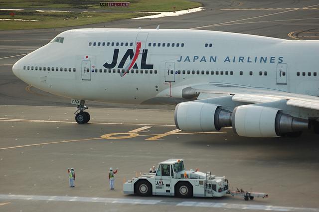 JAL Boeing747-400のお見送り