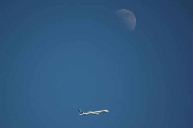 モヒカンジェットと上弦の月