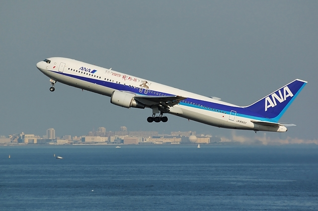 龍馬伝Boeing767 Take Off