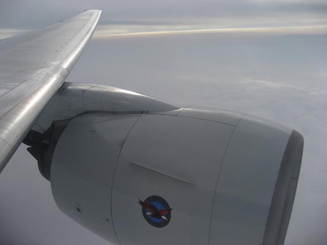 ANA241 Boeing777-200の翼
