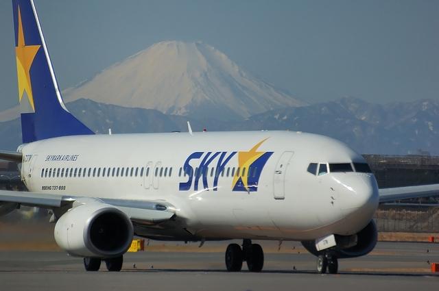 SKYMARK Boeing737-800と富士山