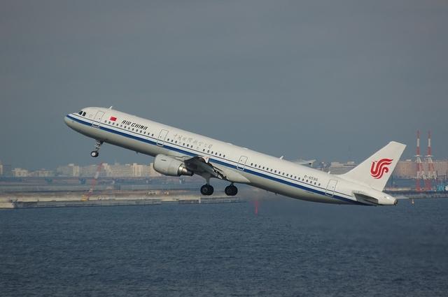 Air China Airbus A320-200(B-6596) Positive Climb