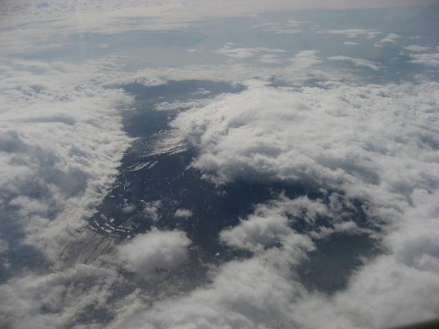 富士山の裾野に広がる雲海