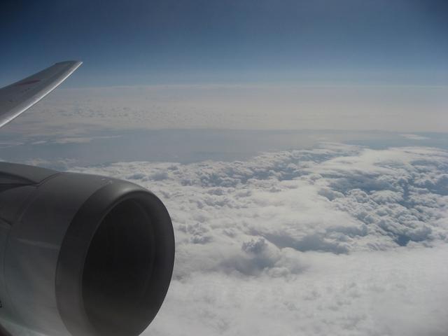 Boeing767-300のエンジンと翼