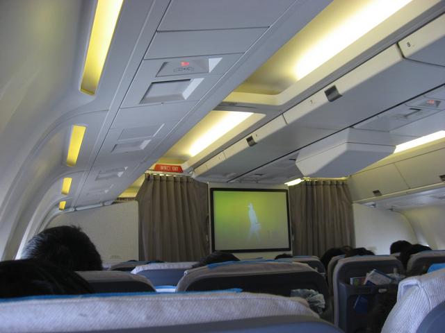 Boeing767-300の機内