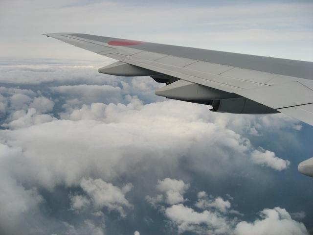 津軽海峡上空