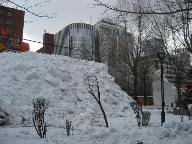 雪祭りの後