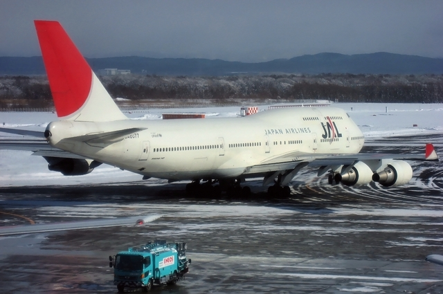 JAL Boeing747-400 Taxi to runway